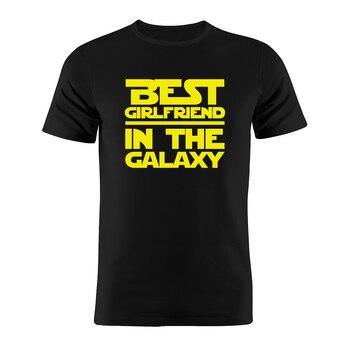 Camiseta Unixsex 100% algodón mejor novia en la galaxia Star Wars Nerdy divertida camiseta de regalo