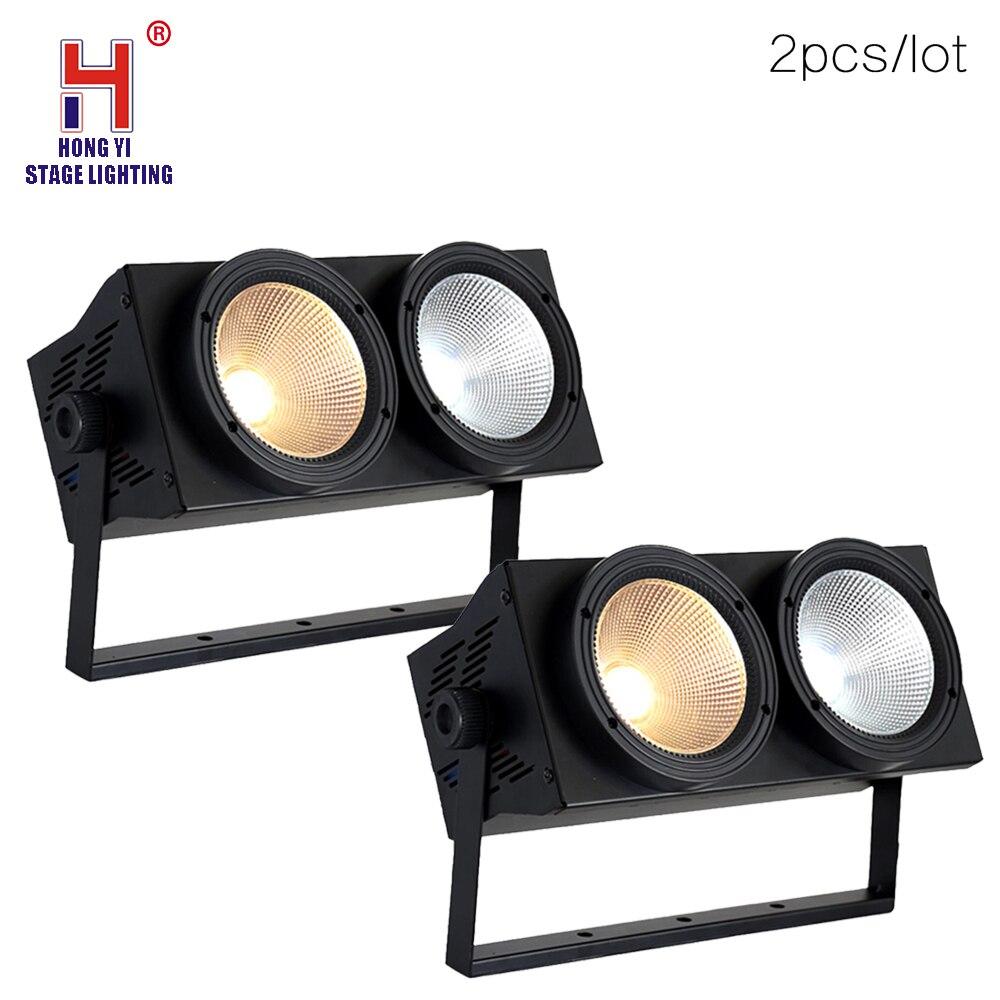 Newest Professional 2x100W LED Blinder Light 2eye COB LED Wash Light High Power DMX Stage Lighting COB Lamps (2pcs/lot)