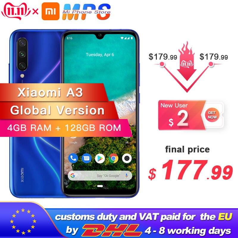 Global Version Xiaomi Mi A3 MiA3 4GB 128GB Smartphone Snapdragon 665 Octa Core 6.088