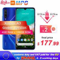 Globale Versione Xiao mi mi A3 mi A3 4GB 128GB Smartphone Snapdragon 665 Octa Core 6.088 Schermo AMOLED 48MP + 32MP dello schermo Della Macchina Fotografica 4030mAh