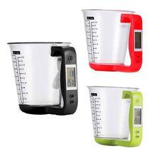 Digital eletrônico display lcd cozinha copos de medição cozinha comida água cozinhar copos de medição escala temperatura copos de medição