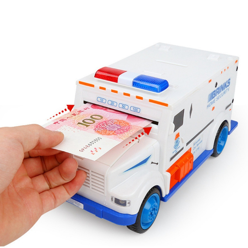 Novelty Gag Toys Safe Truck Digital Piggy Bank Kids Toy Saving Deposit Boxes Electronic Infant Children Cash Car Coin Toys