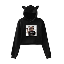 Bad Dog Cat Print Hoodies Women Autumn Winter Warm Pullover Kleding Female Sweatshirts Sportwear Dropshipping Clothing Tops