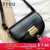Crocodile Pattern PU Leather Saddle Bag For Women 2019 Lady Mini Shoulder Messenger Bags Female Casual Handbags and Purses