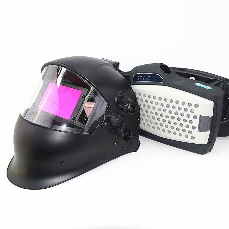 Máscara de soldar con kit respirador purificador de aire
