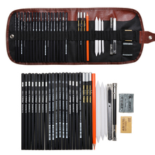 Professional Sketching Pencil Set Drawing Art Pencil Kit With Bag Graphite Charcoal Stick Artist School Students Supplies 32pcs professional drawing artist kit pencils sketch charcoal art craft with carrying bag tools