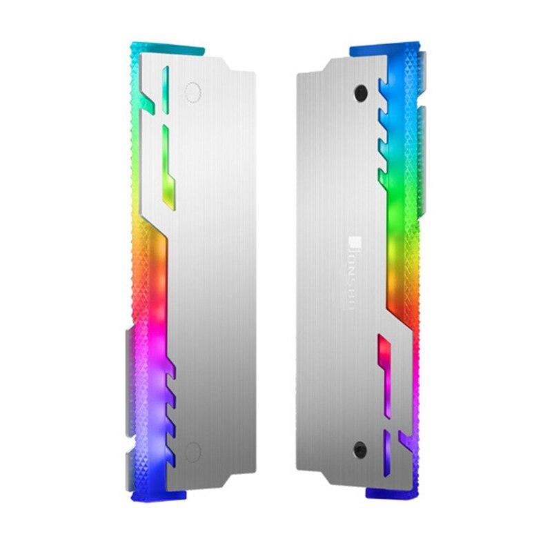 JONSBO 2Pcs NC-3 Memory Cooler ARGB Cooling Vest LED Light Changes Automatically Aluminum Radiator Desktop RAM Heatsink