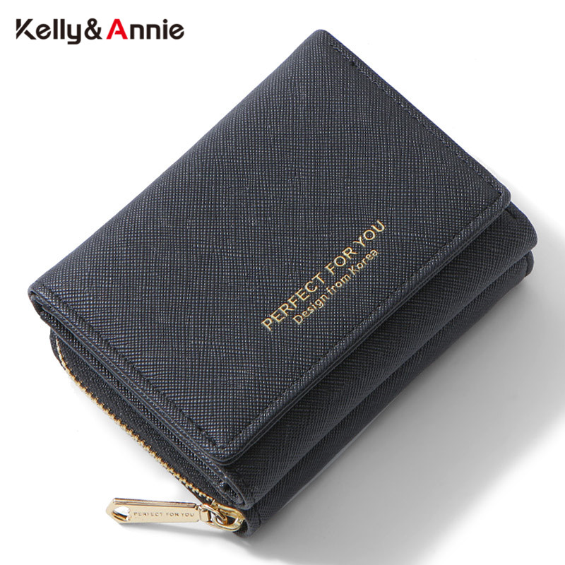 Brand Trifold  Small Wallet Women Soft Leather Zipper Coin Pocket Purses Female Wallets High Quality Ladies Slim Purse Carteras
