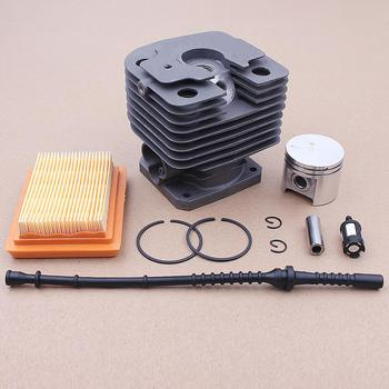 40MM Cylinder Piston Pin Air Filter Kit For Stihl FR450 FS400 FS480 FS450 Chainsaw Part 4128 020 1201 38mm cylinder assembly for st fs200 ts200 020 strimmer chop saw zylinder w piston ring pin clips assembly 4134 020 1212 page 3
