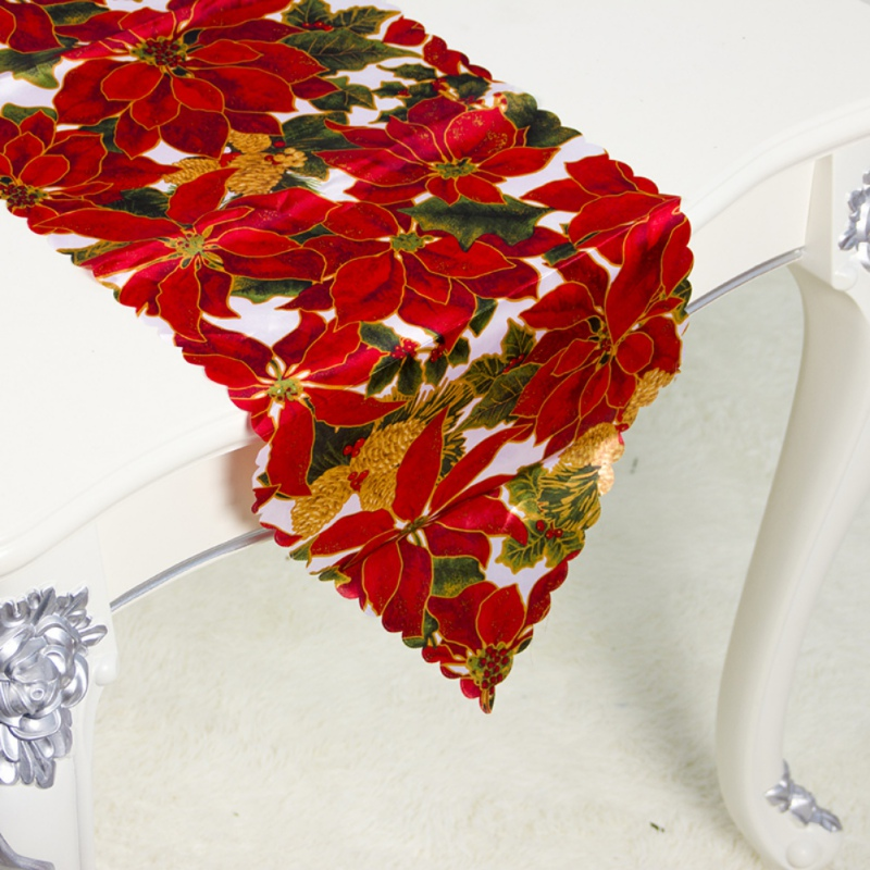 Christmas Table Runner Linen Table Flag Tablecloths Party Decoration Creative Table Runner Xmas Holiday Table Decor