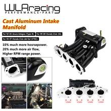 Wlr-для b16a b16b b18a алюминиевый литой впускной коллектор обновленный болт для 99-00 Honda Civic 92-01 Acura Integra WLR-IM42CA