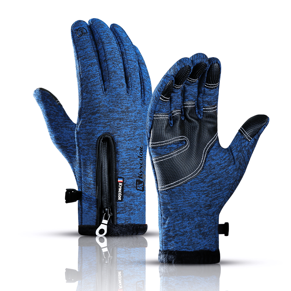 Men Winter Gloves Autumn Winter Warm Touch Screen Windproof Full Finger Cycling Glove Skiing Gloves High Quality