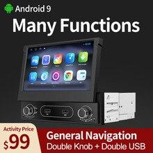 1 din Android 9,0 четырехъядерный Автомобильный GPS-навигатор проигрыватель 7 ''универсальный автомобильный радиоприемник WiFi Bluetooth MP5 мультимедийны...