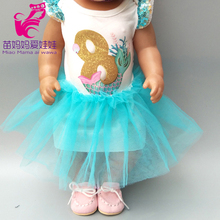 18 inch american Doll summer dress for baby doll clothes lace headband accessories
