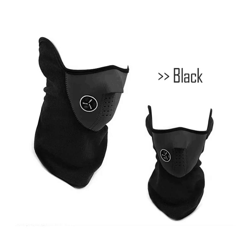 Warm Fleece Bike Half Face Mask Cover Face Hood Protection Cycling Ski Sports Outdoor Winter Neck Guard Scarf Warm Mask Hot #ED