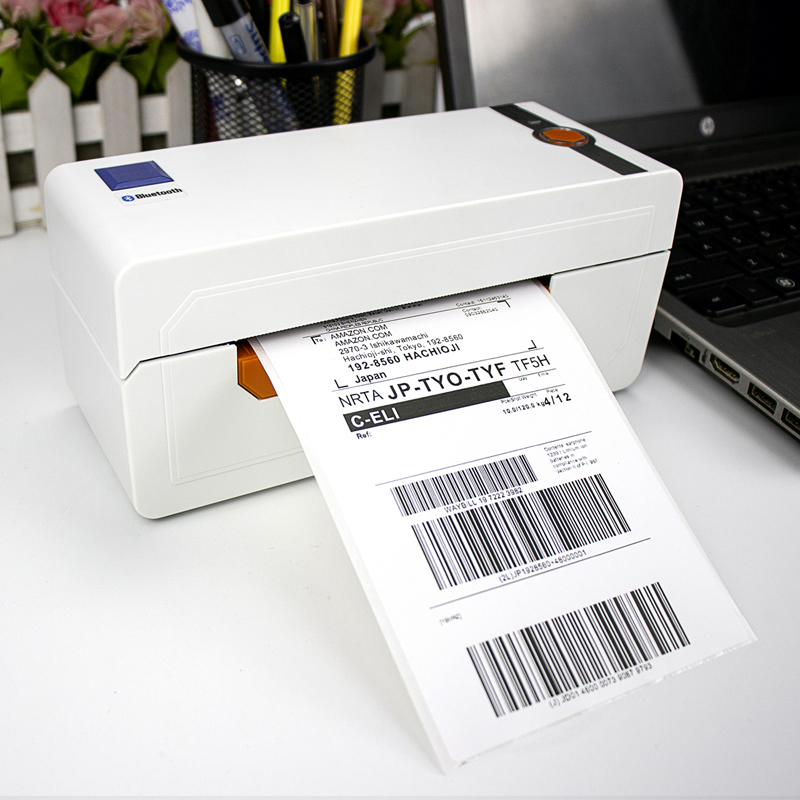 NETUM Desktop Thermal Label Maker NT-LP110A Thermal Barcode Label Printer for Shipping Express Label 4x6 Printing Mac OS/Windows title=