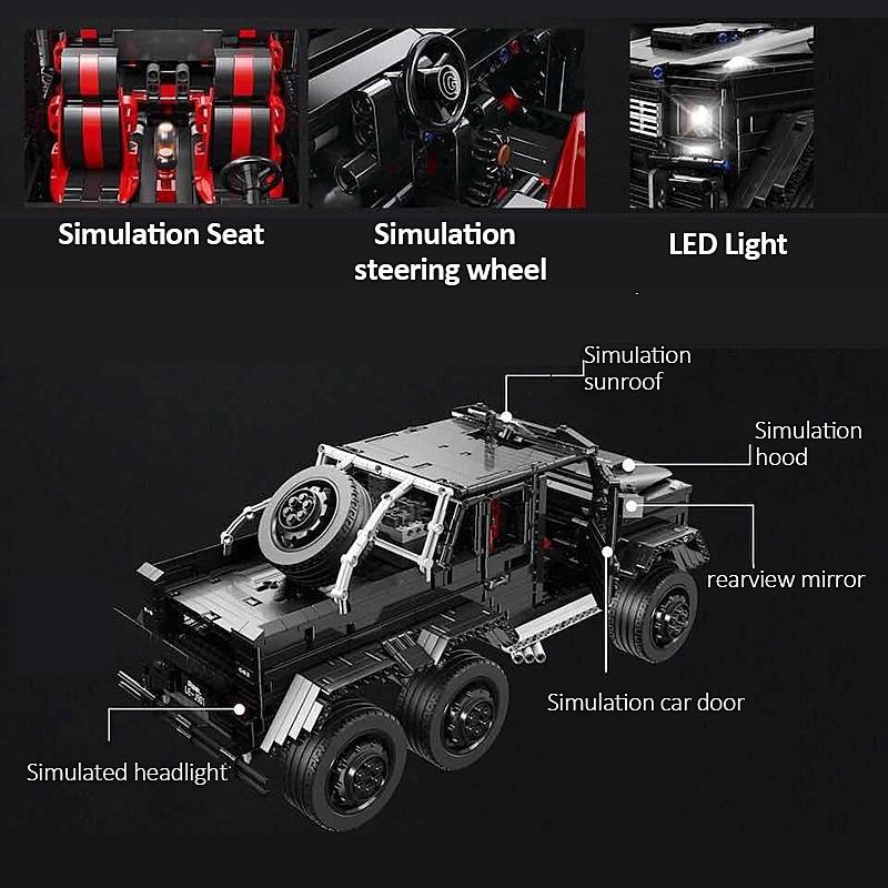 3300 шт. Technic внедорожники MOC G63AMG 6X6 LAND CRUISER набор модельных скоростных внедорожников кирпичи гоночные машины строительные блоки игрушки - 3