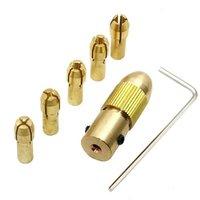 Mini broca elétrica auto-aperto mandril broca conjunto 0.5 a 3mm para broca elétrica 7 peças