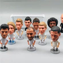 Soccerwe 6.5cm Height Soccer Mini Dolls Courtois Benzema Marcelo Figures Model Toy