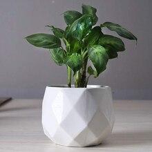 Креатив керамика бриллиант геометрический цветочный горшок простой суккулент растение контейнер зеленый кашпо маленький бонсай горшки дом украшение
