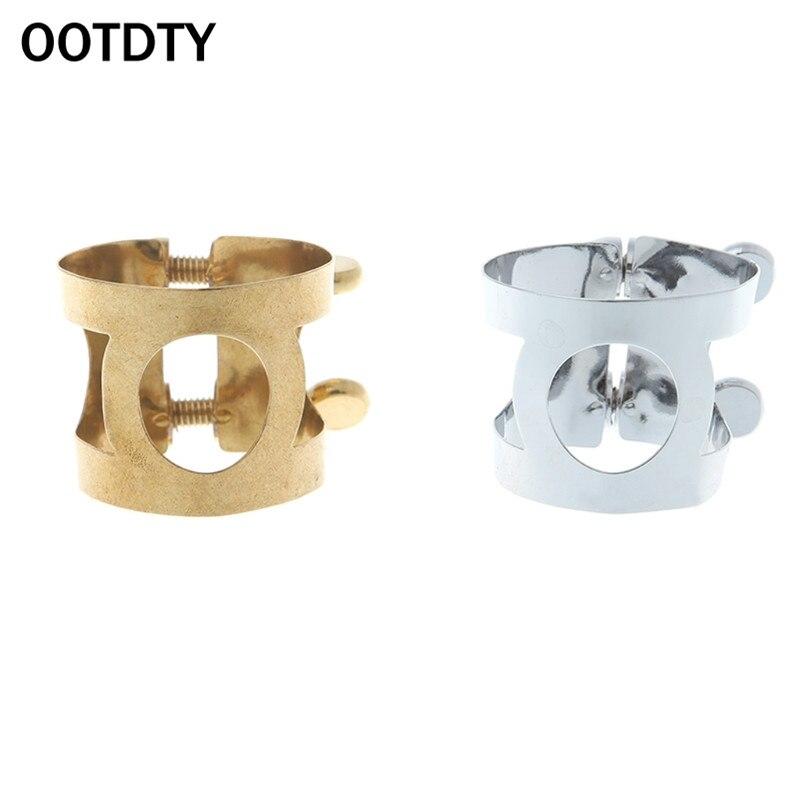 OOTDTY Professional Alto Saxophone Sax Mouthpiece Ligature Metal Clip Fastener