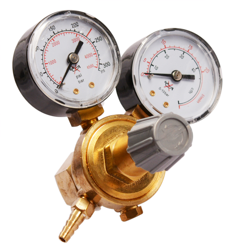 Mini Argon CO2 Gas Bottle Pressure Regulator MIG TIG Welding Flow Meter Gauge W21.8 1/4 Thread 0-20 Mpa Regulator