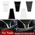 Для Tesla модель S аксессуары чехол рулевого колеса автомобиля Наклейка Tesla X автомобильные автомобили Декор интерьера аксессуары для интерье...