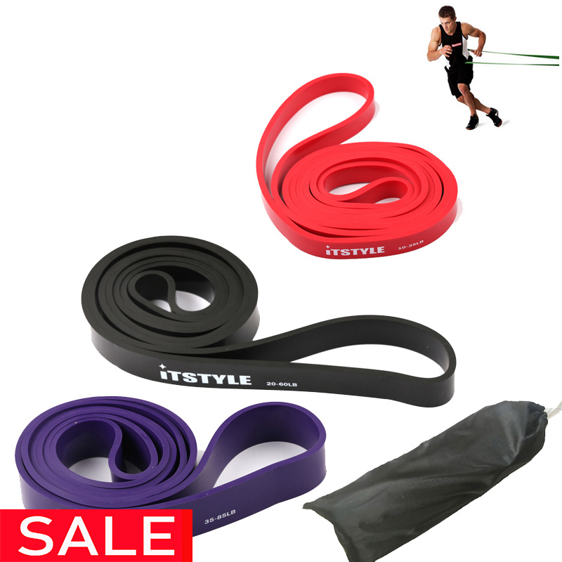 Pull Up Band 208cm 3 Level  Yoga Latex Expander Power CrossFit Loop Rubber Resistance Bands