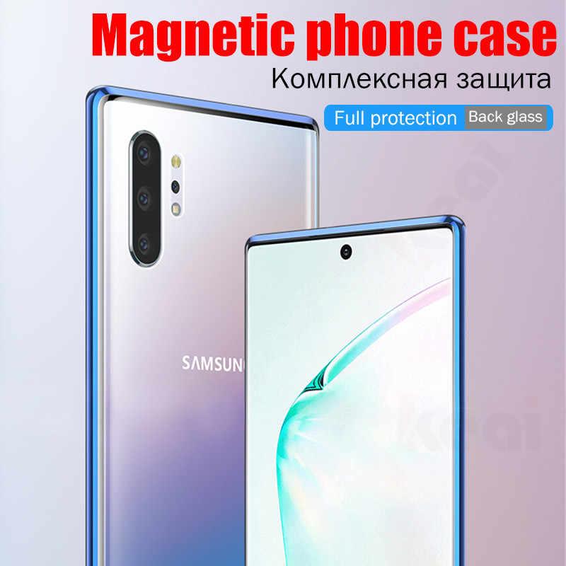 Manyetik adsorpsiyon samsung kılıfı Galaxy A50 A70 S9 S8 kılıfı A40 S10 artı Lite not 9 8 10 artı A20 A10 a30 arka cam kapak