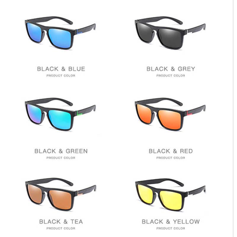 الرجال الاستقطاب TR90 النظارات الشمسية خمر مكافحة الأشعة فوق البنفسجية القيادة سائق نظارات سوداء نظارات مستطيل ظلال الرجال Oculos masculino الذكور