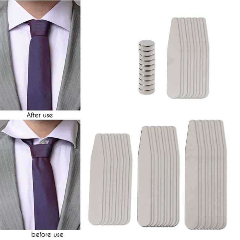 50 Pcs Stainless Steel Shirt Collar Stays Bone Neck Collar Stiffener Inserts No Rust Magnet Easy Fixed Fit For Men's Shirts