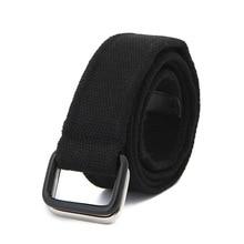 Canvas White Belt For Women Double Ring buckle Belts Waist M