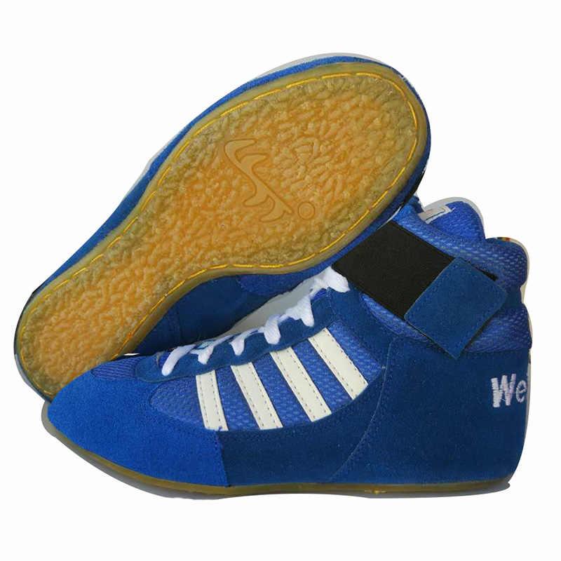 الصينية الأحمر جلد أصلي للرجال الخصر أحذية مصارعة الثور العضلات تسولي تنفس أحذية مصارعة غير زلة المطاط حجم 35-45