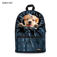 Cute Cat Printed School Bags Girls Boys Animal Backpack Teenagers Middle School Book Bag Pack Mochila Infantil Escolares недорого