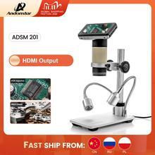 Andonstar ADSM201 HDMI إخراج المجهر الرقمي عدسة طويلة كائن المسافة لفحص المواد ، والإصلاح الإلكتروني
