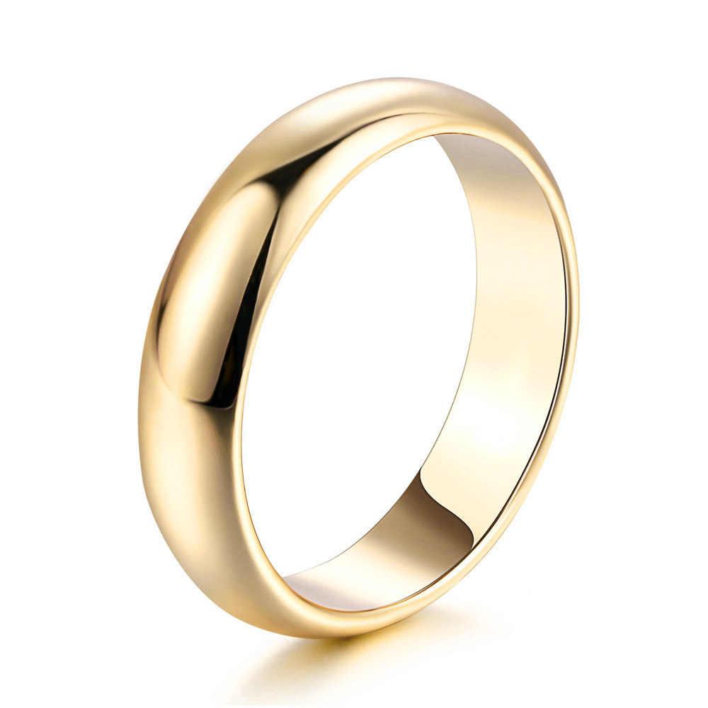 Doppel Fair Einfache Design Paar Runde Ringe Rose Gold/Silber Farbe Mode Hochzeit Schmuck Für Männer & Frauen Liebhaber hotSale DFR049