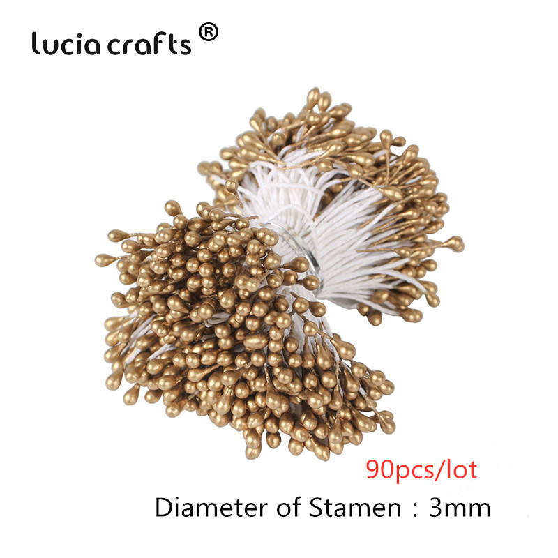 900pcs//lot Random Mixed Double Têtes bricolage artificiel mini perle fleur étamine