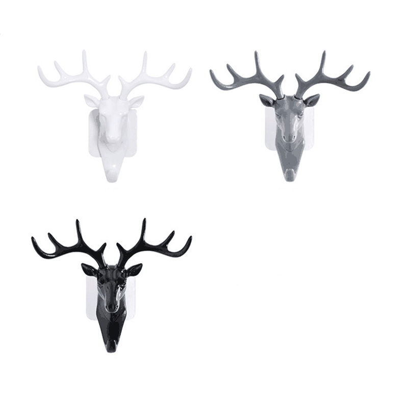 Wall Hanging Hook Vintage Deer Head Antlers for Hanging Clothes Hat Scarf Key Deer Horns Hanger Rack Wall Decoration 4