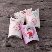 10pcs/lot Multi Designs small Pillow Earrings Gift Box 6.5x9x2.5cm Candy Box Wholesale necklace jewelry display packaging boxes(China)