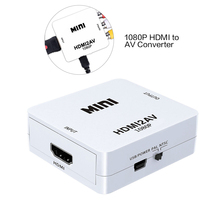 цена на 1080P Mini HDMI to VGA to RCA AV Composite Adapter Converter with USB Cable to PC HDTV Converter Support NTSC PAL