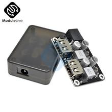 Двойной 2 USB быстрое зарядное устройство понижающий модуль вход 6 V-30 V один порт 24W Поддержка QC2.0 QC3.0 QC 2,0 3,0 Автомобильная плата с Чехол