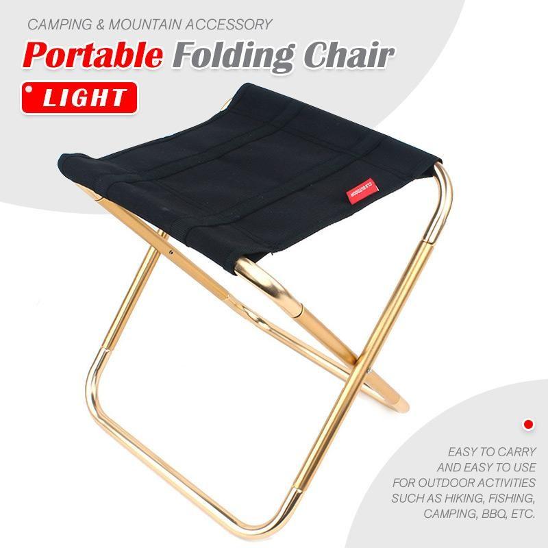 Cadeira dobrável portátil cadeira de pesca leve piquenique cadeira de acampamento dobrável pano de alumínio ao ar livre portátil fácil transportar