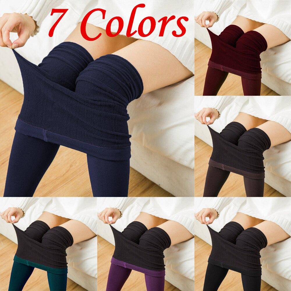 Fashion Plus Size Spandex Winter Warm   Leggings   Black Leggins Activewear Velvet   Leggings