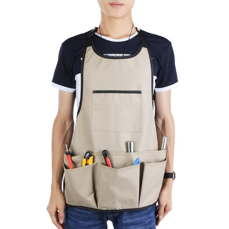 LAMEZIA 14 Feature Bag Tool Pockets For Technician Carpenter Garden Car Repair Tool Apron Work Clothes Hand Tools Storage