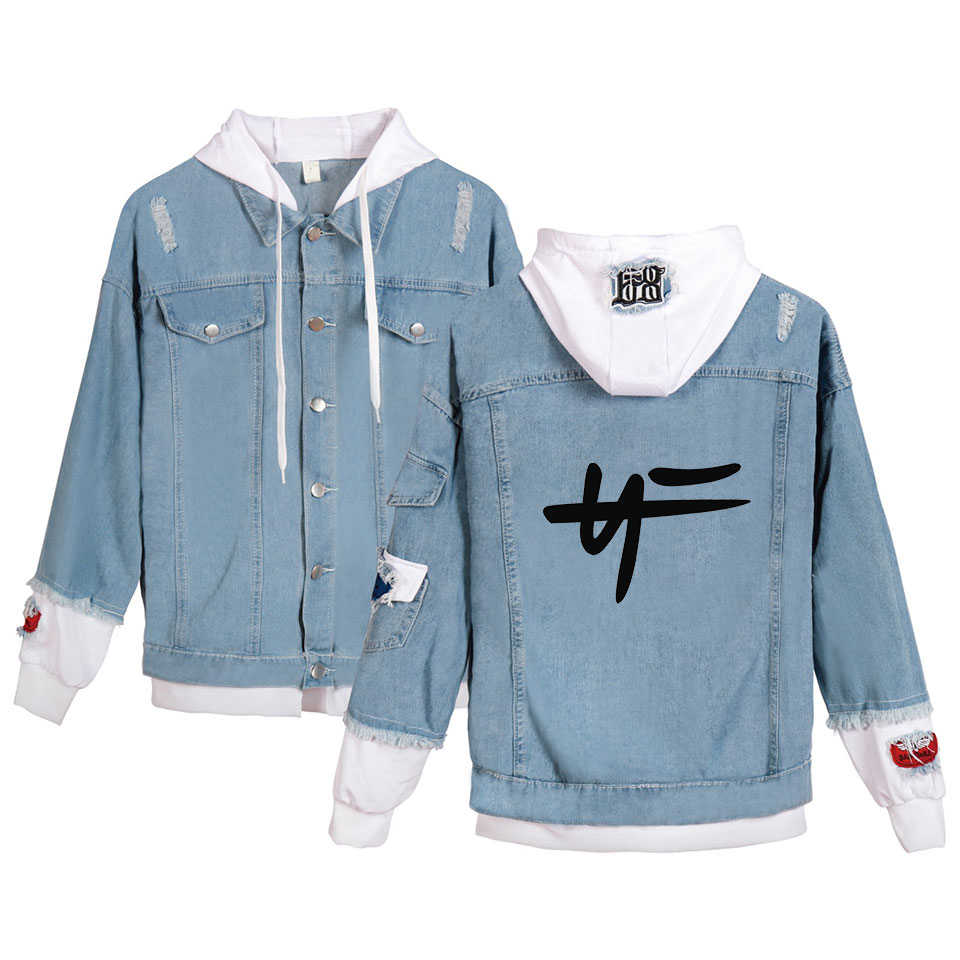 New Hip Hop Rapper Nate Feuerstein Hoodies Denim Jacket Men/Women Hot Harajuku Streetwear NF Sweatshirt Clothes