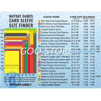 50 Sleeves MAYDAY Board Games Cards Premium Thicker Sleeve Protective clear card sleeves mayday melbourne