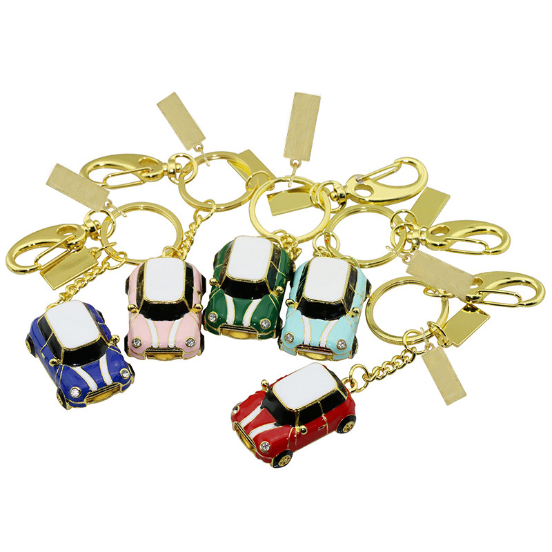 Metal USB Flash Car 4 8 16 32 64 128 Gb Pendrive Car 16GB 64GB Pen Drive Memory Stick With Key Ring Flash Drive Mini Cute Gift