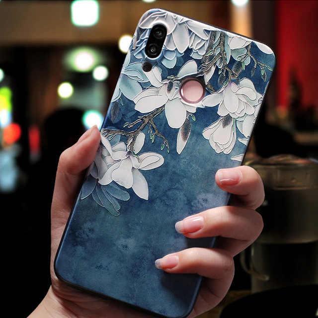 Untuk Huawei P30 Lite Case 3D Relief Emboss Silikon Lembut Telepon Kembali Menutupi untuk Huawei P30 Lite P30lite Telepon Kasus P 30 Pro P30pro
