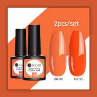 UR SUGAR 2pcs UV Gel 7.5ml Nail Polish Set Soak Off Nails Art Semi Permanent Painting UV Led Gel Polish Nail varnish