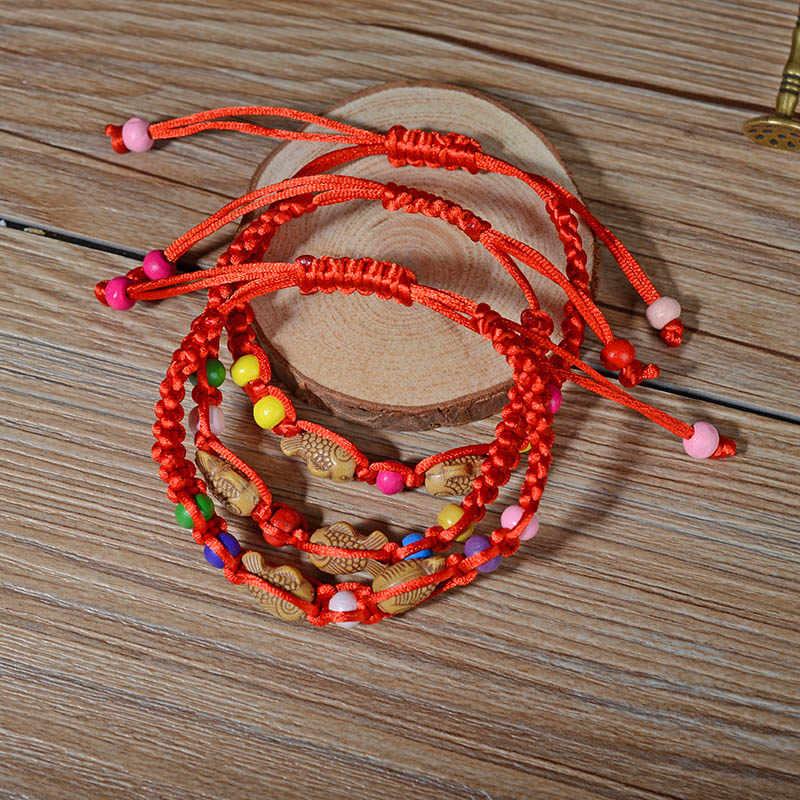 2018 czerwona linka bransoletka szczęście tkana bransoletka czeski unisex powodzenia bransoletka biżuteria w stylu etnicznym